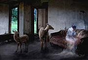 Paranormal  Digital Art Prints - Unexpected Company Print by Tom Straub