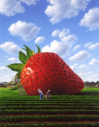Strawberry Art - Unexpected Growth by Jerry LoFaro