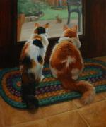 Braid Paintings - Unexpected Guest by Vicky Gooch