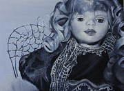 Doll Paintings - Unfinished Anjel by Jane Autry