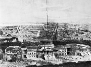 1850s Prints - UNFINISHED CAPITOL, 1850s Print by Granger