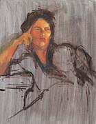 Unfinished Portrait Print by Becky Kim