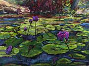 Metaphor Paintings - Unfolding by the lily pond by Patricia Maguire