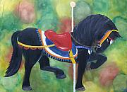 Merry-go-round Painting Originals - Unforgettable Spirit by Tammy Dunn