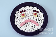 Tablets Posters - Unhappy Pills Poster by Photo Researchers, Inc.