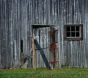 Barn Door Framed Prints - Unhinged Framed Print by Mark Fuller