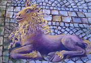 Extinct And Mythical Pastels Originals - Unicorn by Barbara Richert