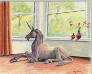 Curtains Originals - Unicorn in the Window by Barbara Walker