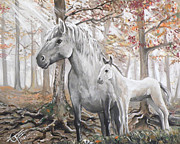 Colt Paintings - Unicorn by Tom Carlton