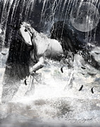 Rain Digital Art - Unicorns Complexities by Lourry Legarde