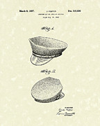 Article Posters - Uniform Cap 1937 Patent Art Poster by Prior Art Design
