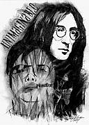 John Lennon Mixed Media Originals - Unimaginable Monster by Jason Kasper