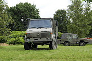 Component Photo Framed Prints - Unimog Truck Of The Belgian Army Framed Print by Luc De Jaeger