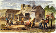 Farrier Framed Prints - Union Army Forge, 1864 Framed Print by Granger
