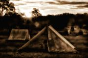 Tents Framed Prints - Union Camp Framed Print by Bill Cannon