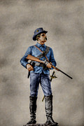 Cavalry Digital Art - Union Cavalry Trooper by Randy Steele