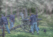 Artillery Digital Art Framed Prints - Union Civil War Cannon Framed Print by Randy Steele