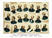 Civil Painting Prints - Union Commanders of The Civil War Print by War Is Hell Store