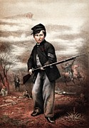 Civil War Paintings - Union Drummer Boy John Clem by War Is Hell Store