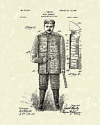 1901 Posters - Union Garment 1901 Patent Art Poster by Prior Art Design