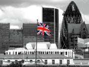 Selective Colouring Prints - Union Jack - HMS Belfast Print by Graham Taylor