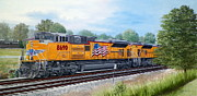 Arkansas. Union Pacific Framed Prints - Union Pacific 8690 Framed Print by RB McGrath
