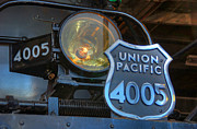Union Pacific Framed Prints - Union Pacific Big Boy Headlight Framed Print by Ken Smith