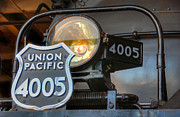 Union Pacific Framed Prints - Union Pacific Big Boy Headlight View 2 Framed Print by Ken Smith