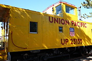 Old Caboose Photo Posters - Union Pacific Caboose - 5D19205 Poster by Wingsdomain Art and Photography