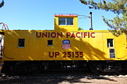 Old Caboose Photo Posters - Union Pacific Caboose - 5D19206 Poster by Wingsdomain Art and Photography