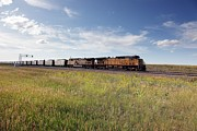 2000s Posters - Union Pacific Diesel Locomotives Pull Poster by Everett