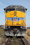 Transportation Metal Prints - Union Pacific Locomotive Train - 5D18636 Metal Print by Wingsdomain Art and Photography