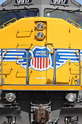 Boxcar Photos - Union Pacific Locomotive Train - 5D18645 by Wingsdomain Art and Photography