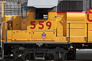 Transportation Metal Prints - Union Pacific Locomotive Train - 5D18651 Metal Print by Wingsdomain Art and Photography