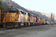 Railroads Photo Metal Prints - Union Pacific Locomotive Trains . 7D10563 Metal Print by Wingsdomain Art and Photography