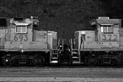 Black And White Photographs Photos - Union Pacific Locomotive Trains . 7D10574 . black and white by Wingsdomain Art and Photography