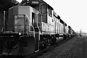 Black And White Photographs Photos - Union Pacific Locomotive Trains . 7D10588 . black and white by Wingsdomain Art and Photography