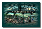 Cities Pyrography Framed Prints - Union Square Subway Framed Print by Frank Garciarubio