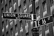 Signs Prints - Union Square West Print by Susan Candelario