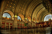 Washington D.c. Tapestries Textiles Prints - Union Station - DC Print by Frank Garciarubio