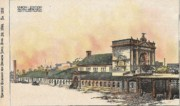 Victorian Buildings Paintings - Union Station Omaha Nebraska 1899 by Frost and Granger