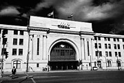 Wetmore Framed Prints - Union Station Via Rail Canada Downtown Winnipeg Manitoba Canada Framed Print by Joe Fox