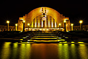 Cincinnati Framed Prints - Union Terminal Framed Print by Keith Allen
