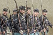 Battle Of Gettysburg Digital Art Posters - Union Veteran Soldiers Parade  Poster by Randy Steele