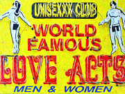 Signage Posters - Unisexxx Club Poster by Wingsdomain Art and Photography