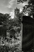 Churchyard Posters - Unitarian Church Cemetery Poster by Steven Ainsworth