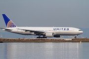 United Airlines Jet Airplane At San Francisco International Airport Sfo . 7d12079 Print by Wingsdomain Art and Photography