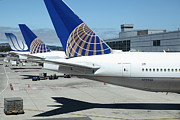 Boeing 767 Prints - United Airlines Jet Airplane at San Francisco SFO International Airport - 5D17110 Print by Wingsdomain Art and Photography