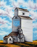 Prairies Painting Posters - United Grain Growers Poster by Kristina Steinbring