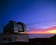Hawai Posters - United Kingdom Infrared Telescope On Mauna Kea Poster by David Nunuk